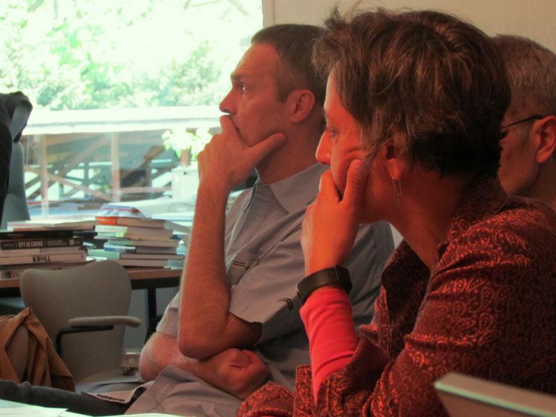 Leila Chammaa während der ILP-Jurysitzung zur Ermittlung der Shortlist 2016