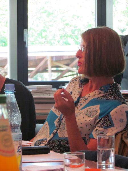 Sabine Scholl während der ILP-Jurysitzung zur Ermittlung der Shortlist 2016