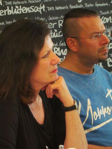 Sabine Peschel und Marko Martin während der ILP-Jurysitzung zur Ermittlung der Shortlist 2016