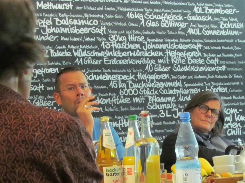 Marko Martin und Iris Radisch während der ILP-Jurysitzung zur Ermittlung der Shortlist 2016